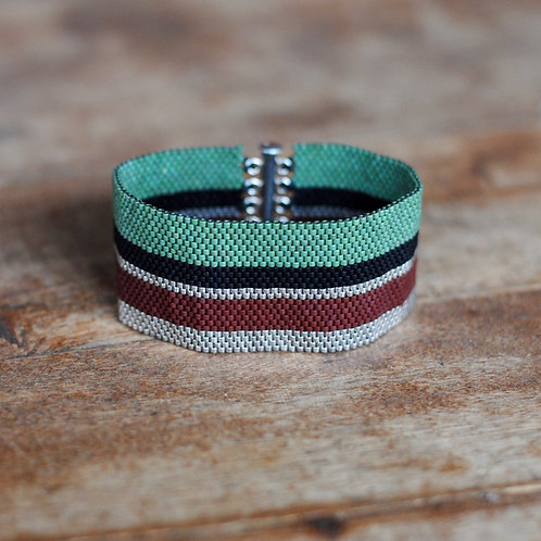Woven Beaded Bracelet by Samantha Taylor