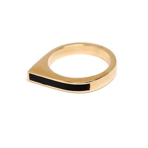 Black Jade Wedge Ring by Dwaine Ferguson