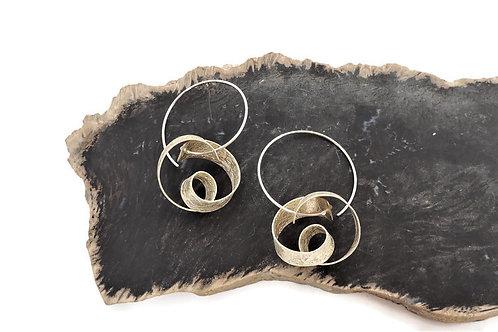 Swirly Pretzel Earrings