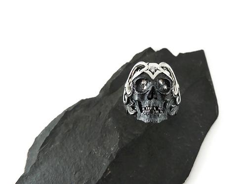 Sterling Silver Mortality Skull Ring