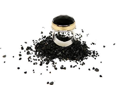 Rose Cut Black Onyx Ring by Linda Blumel
