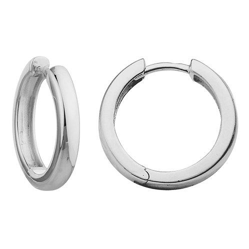 Rounded Hinged Hoop Earrings