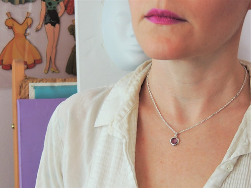 Round Amethyst Necklace by Stephen Estelle