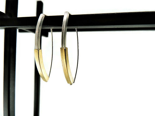 Two Tone Threader Earrings by Mysterium