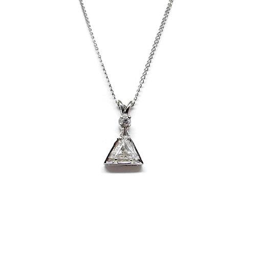 Trillion Cut Diamond Estate Necklace