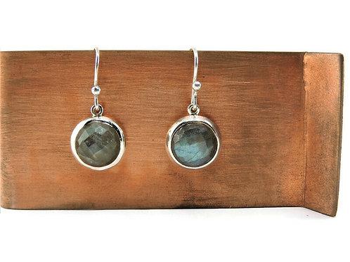 Faceted Labradorite Drop Earrings by Stephen Estelle