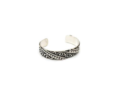 Sterling Silver Fuzed Design Cuff Bracelet