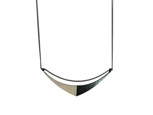 Oxidized Sterling Silver Sail Necklace by Mysterium