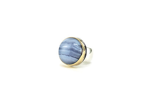 Blue Lace Agate Ring by Linda Blumel