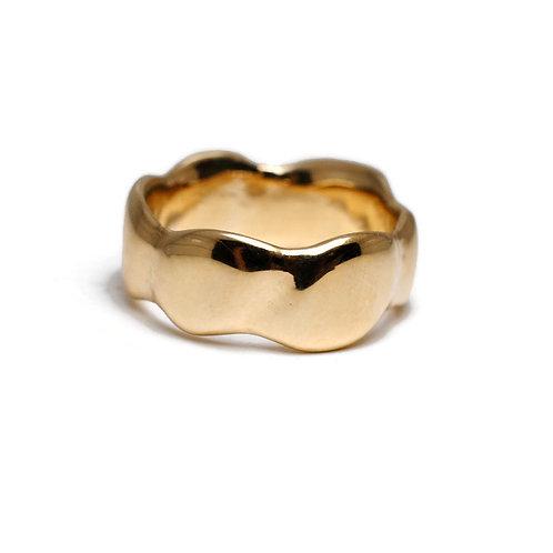 Wavy Freeform Gold Ring