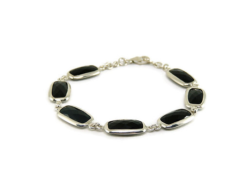 Rectangular Black Onyx Bracelet by Stephen Estelle