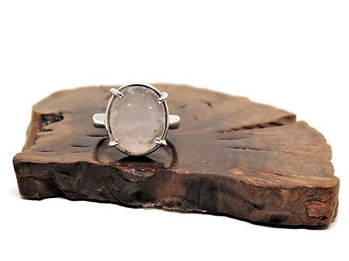 Small Natural Surface Rose Quartz Ring