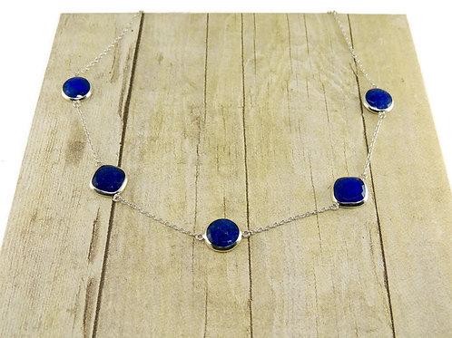Five Piece Lapis Necklace by Stephen Estelle