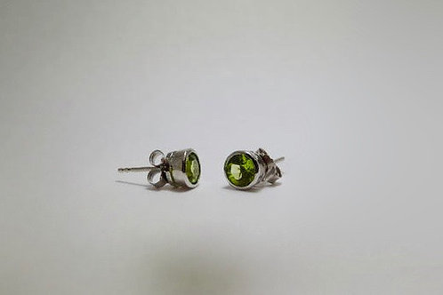 Sterling Silver Peridot Stud By Quality Gold