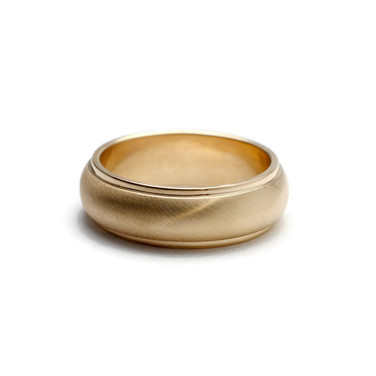 Custom men's ring made from gold recycled from client's father's ring