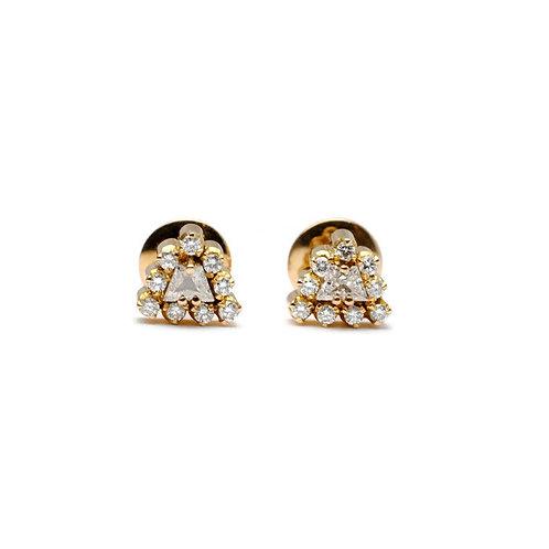 Trapezoid Diamond Estate Earrings