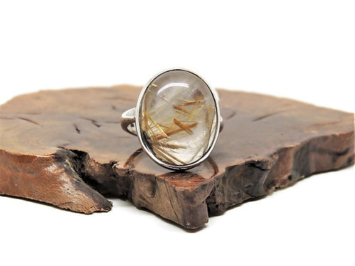 Oval Rutilated Quartz Ring