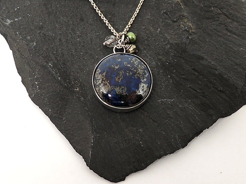 Lapis Pendant in Sterling silver