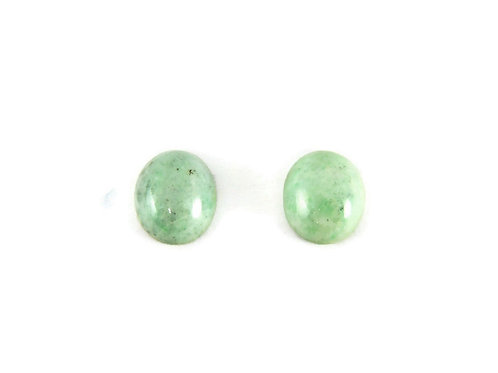 Pair of Oval Jade Cabochons