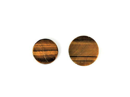 Round Tiger's Eye Cabochons