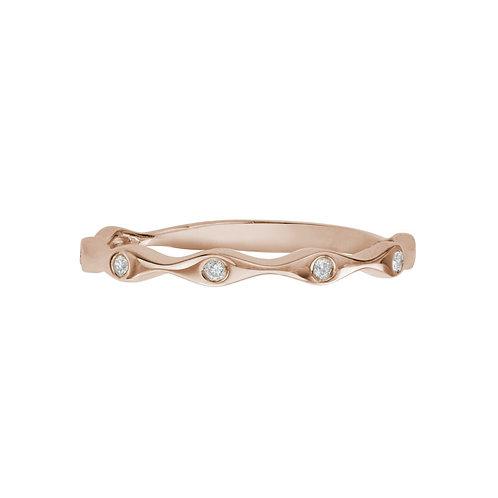 Rose Gold Wavy Stacking Ring