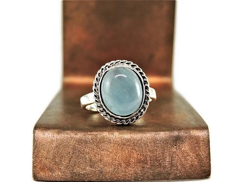 Ornate Oval Aquamarine Ring