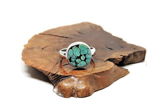 Round Turquoise Ring