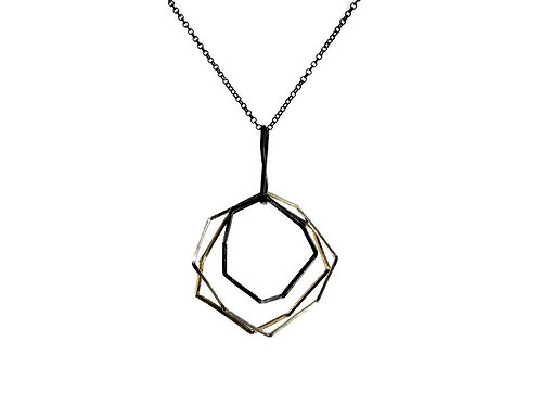 Three Tone Octagon Necklace by Mysterium