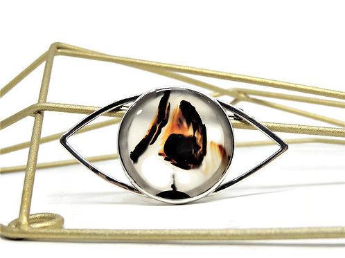 Montana Agate Eye Pin