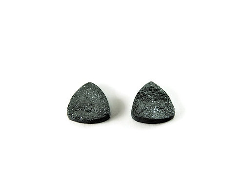 Triangular Specular Hematite Loose Stone Pair