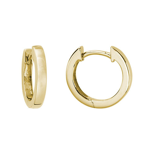 Square Edge Hinged Hoop Earrings