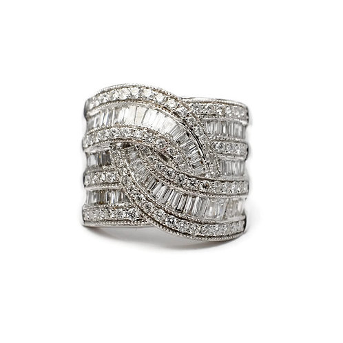Diamond Baguette Estate Ring