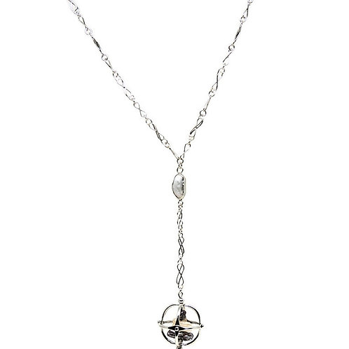 Sterling Silver Globe Necklace by Knots & Bends