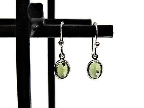Oval Peridot Earrings by Stephen Estelle
