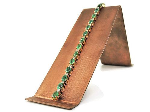 Emerald & Diamond Tennis Bracelet