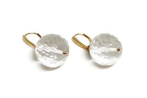 Faceted Glass Globe Earrings