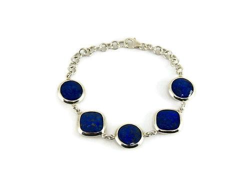 5 Piece Lapis Bracelet by Stephen Estelle