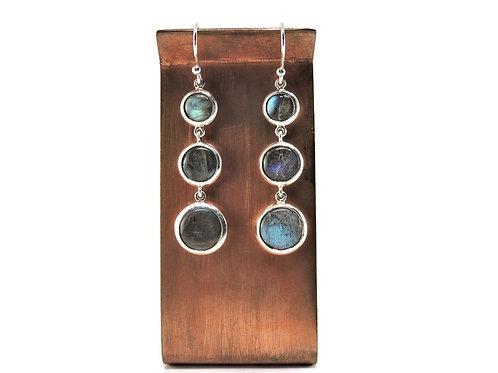 Three Piece Labradorite Drop Earrings by Stephen Estelle