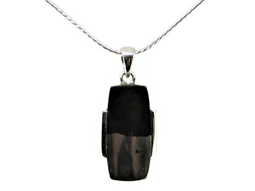 Sterling Silver and Apache Gold Stone Pendant