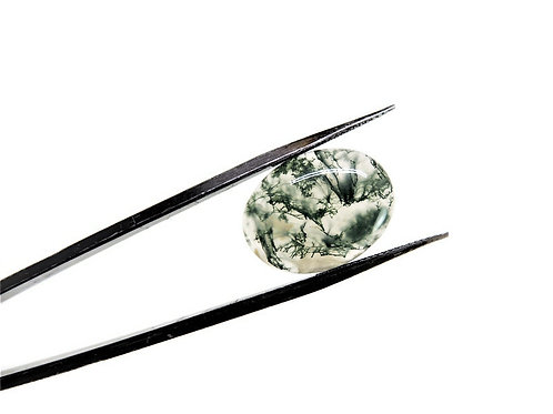 Oval India Moss Agate Cabochon