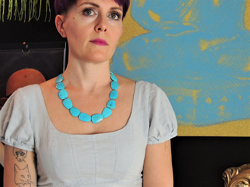 Faceted Turquoise Necklace by Cassie Leaders