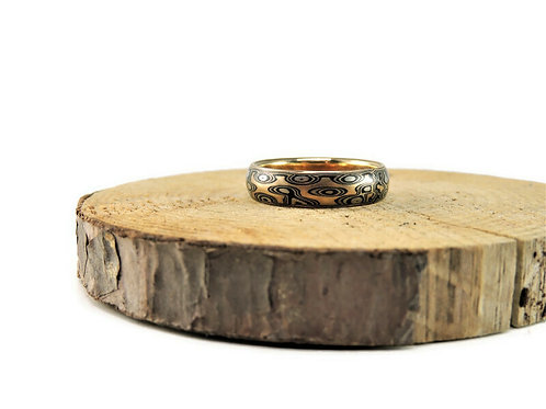 Riverbed-Colorado Mokume Ring by Michael Daniels