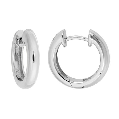 Rounded Hinged Hoop Earrings