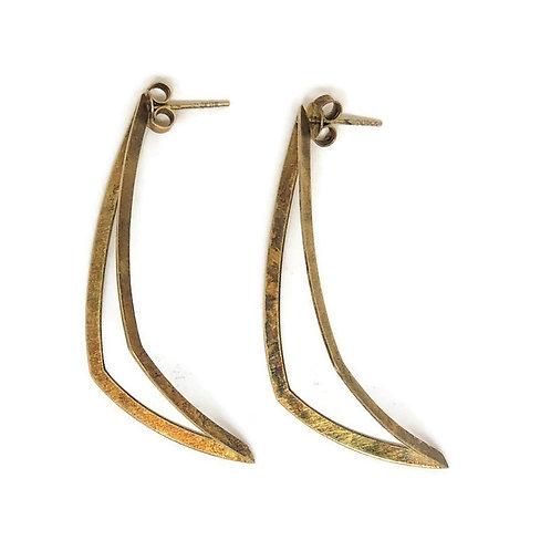 Contoured Sail Post Earrings