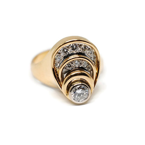 Art Nouveau Diamond Estate Ring