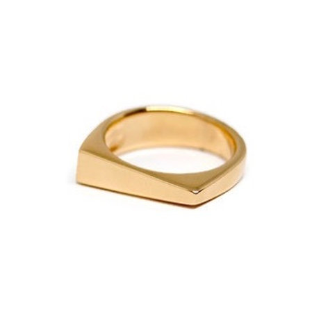 Gold Wedge Ring by Dwaine Ferguson