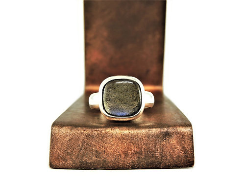 Square Labradorite Ring by Stephen Estelle