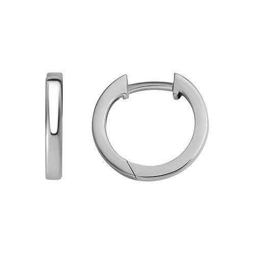 Square Edge Hinged Hoop Earrings