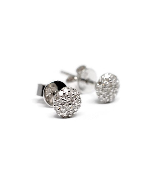 These Perfect Every Day Earrings Hold 17 Twt Diamonds And Are Set In 14k White Gold