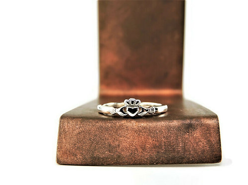 Dainty Sterling Silver Claddagh Ring